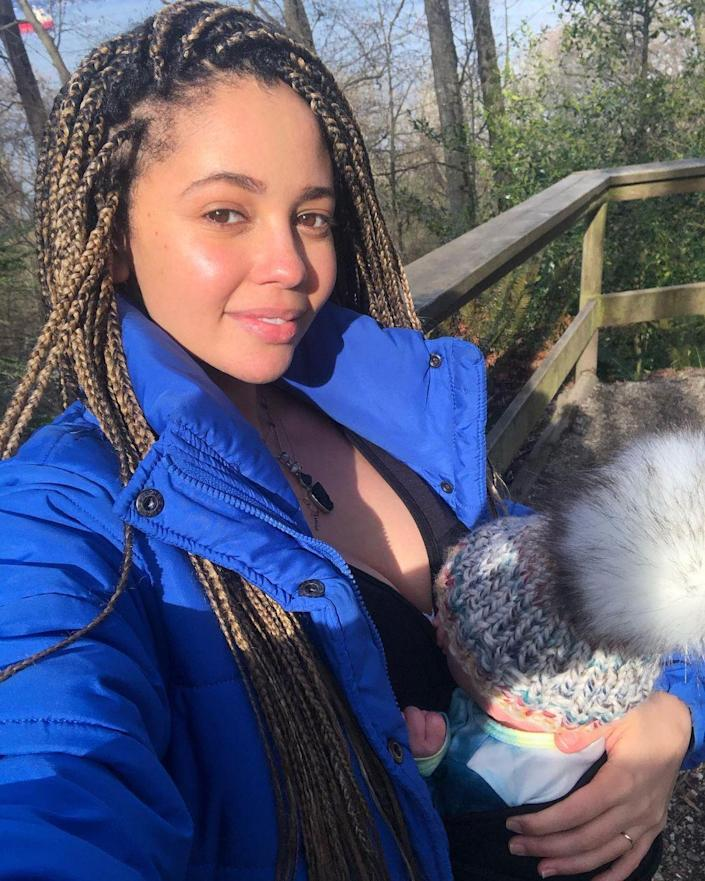 """<p>The <em>Riverdale </em>star spent her first Mother's Day with her son, River Dante, <a href=""""https://www.instagram.com/p/COqLfNBNNgR/"""" rel=""""nofollow noopener"""" target=""""_blank"""" data-ylk=""""slk:writing a sweet tribute"""" class=""""link rapid-noclick-resp"""">writing a sweet tribute</a> on Instagram. """"</p> <p>""""To the boy who made me a momma. River Dante 🕊Grateful everyday your lil soul chose me. Brings tears to my eyes how happy you make me,"""" the mom shared. </p> <p>""""To all the moms out there living that no sleep life and sacrificing day after day for your lil ones, i SEE you, you are beautiful, you are all SUPERWOMEN, you birthed LIFE, Happy Mother's Day 🌸💐🌷🌺 Go give your moms a big hug! Sending you all love & light.""""</p>"""