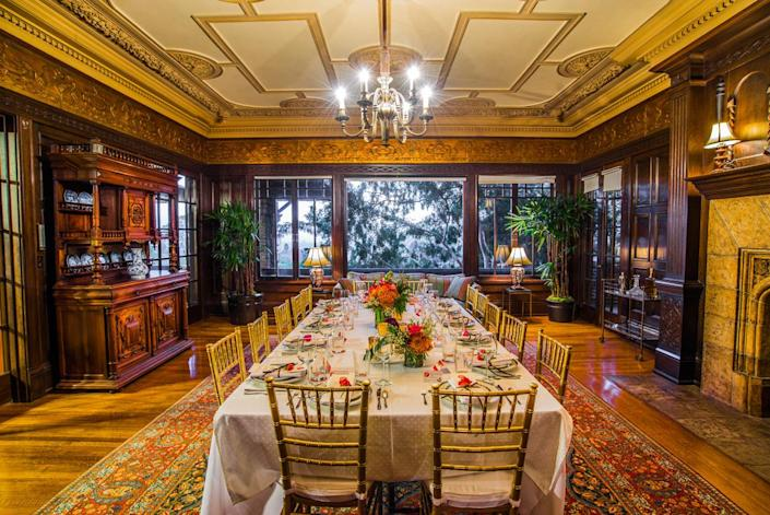 <p>Artemesia's ornate dining room can easily accommodate 40 people.</p>