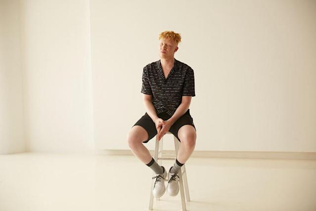Shaun Ross behind the scenes for H&M's Pride Out Loud campaign. (Photo: Courtesy of H&M)