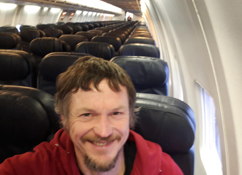 A man was surprised to discover that he had the entire plane to himself [Photo: AP]