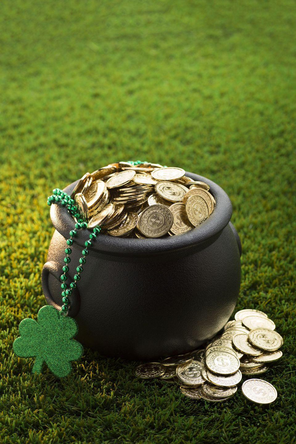 """<p>This game chooses one """"leprechaun"""" to try and figure out who in the circle is hiding the gold coin.</p><p><strong>Get the tutorial at <a href=""""https://happyhomefairy.com/five-fun-games-for-st-patricks-day/"""" rel=""""nofollow noopener"""" target=""""_blank"""" data-ylk=""""slk:Happy Home Fairy"""" class=""""link rapid-noclick-resp"""">Happy Home Fairy</a>.</strong></p><p><strong><a class=""""link rapid-noclick-resp"""" href=""""https://www.amazon.com/Chuangdi-Lucky-Plastic-Patricks-Shamrock/dp/B07MV4GNN9/?tag=syn-yahoo-20&ascsubtag=%5Bartid%7C10050.g.26234489%5Bsrc%7Cyahoo-us"""" rel=""""nofollow noopener"""" target=""""_blank"""" data-ylk=""""slk:SHOP GOLD COINS"""">SHOP GOLD COINS</a><br></strong></p>"""