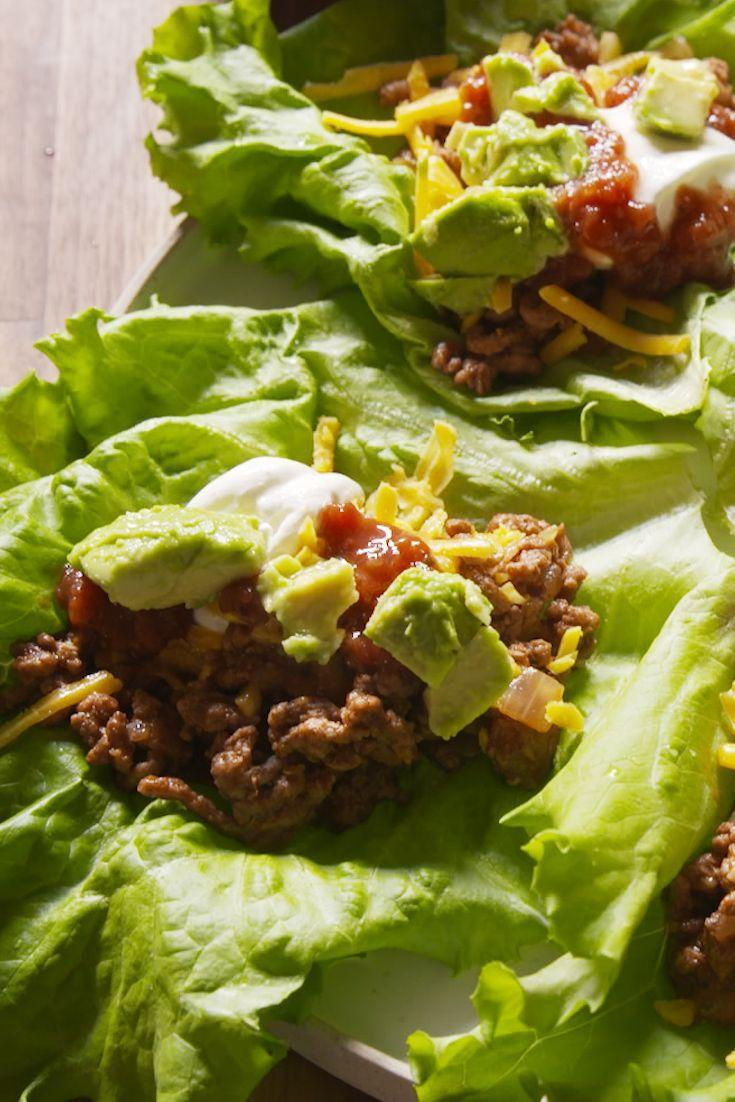 """<p>Life without tacos was just not going to happen.</p><p>Get the recipe from <a href=""""/cooking/recipes/a47804/taco-lettuce-cups-recipe/"""" data-ylk=""""slk:Delish"""" class=""""link rapid-noclick-resp"""">Delish</a>.</p>"""