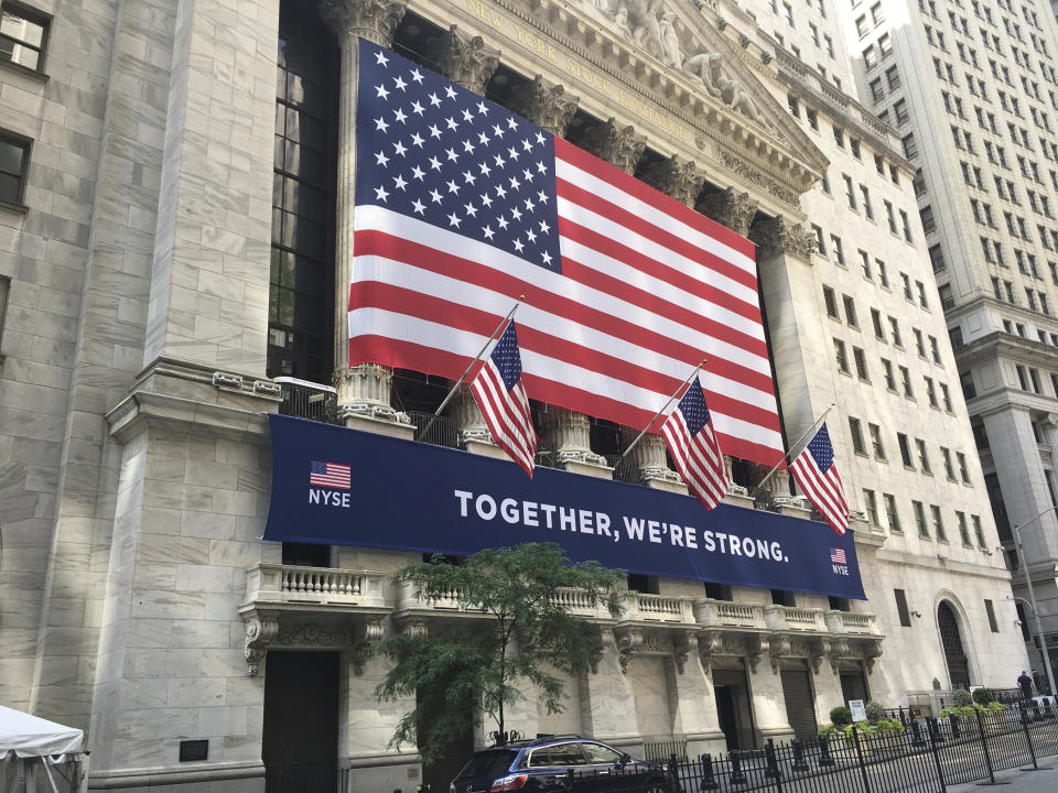 November 27th 2020: Record high closings on Wall Street as the S&P 500 stock market index and the NASDAQ Composite index each closed at new record highs while the Dow Jones Industrial Average also posted a modest gain. - File Photo by: zz/STRF/STAR MAX/IPx 2020 7/6/20 Atmosphere in and around Wall Street and The New York Stock Exchange in the Financial District of Lower Manhattan, New York City on July 6, 2020 during the coronavirus pandemic amid the aftermath of protests, demonstrations, riots, vandalism and destruction of property in response to the death of George Floyd who died while being arrested by police officers in Minneapolis, Minnesota on May 25th. Here, The New York Stock Exchange Building. (NYC)