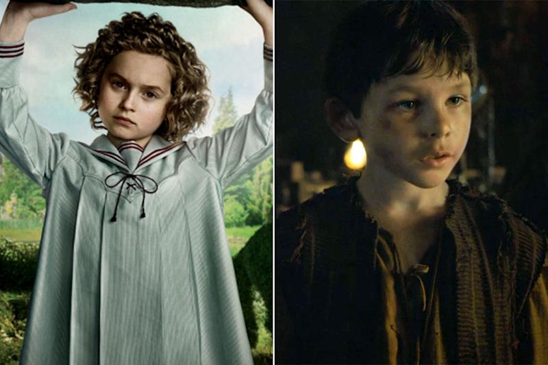 Pixie Davies in 'Miss Peregrine's Home For Peculiar Children' and Nathanael Saleh in 'Game of Thrones' (Credit: 20th Century Fox/HBO)