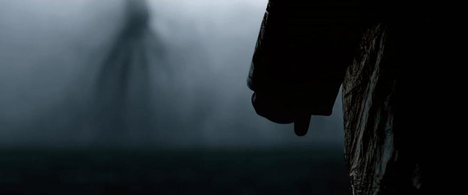 The obscured figure of a visiting alien in 'Arrival'. (Credit: Paramount Pictures)