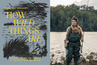 """This combination photo shows """"How Wild Things Are: Cooking, Fishing and Hunting at the Bottom of the World,"""" by Analiese Gregory, left, and a portrait of Gregory. (Hardie Grant Books via AP, left, and Adam Gibson via AP)"""