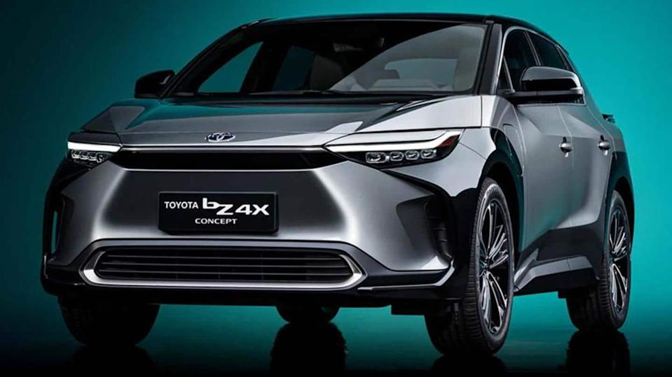 Toyota bZ4X SUV concept, with a solar charging system, revealed