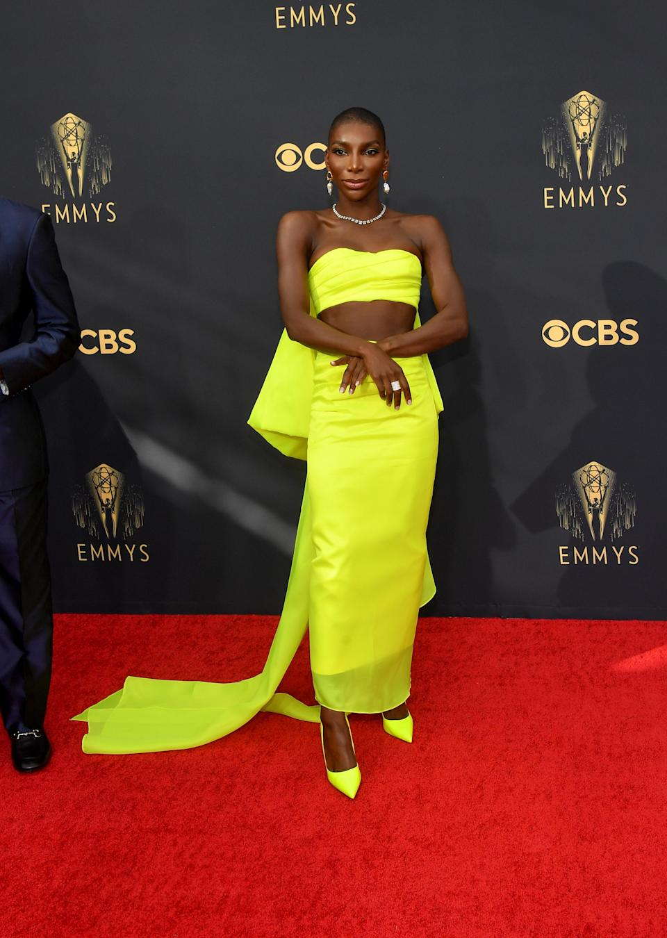 Michaela Coel attends the 2021 Emmy Awards in Los Angeles. - Credit: Michael Buckner for Variety