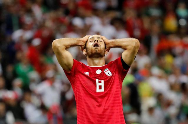 Soccer Football - World Cup - Group B - Iran vs Spain - Kazan Arena, Kazan, Russia - June 20, 2018 Iran's Morteza Pouraliganji looks dejected after the match REUTERS/Toru Hanai TPX IMAGES OF THE DAY