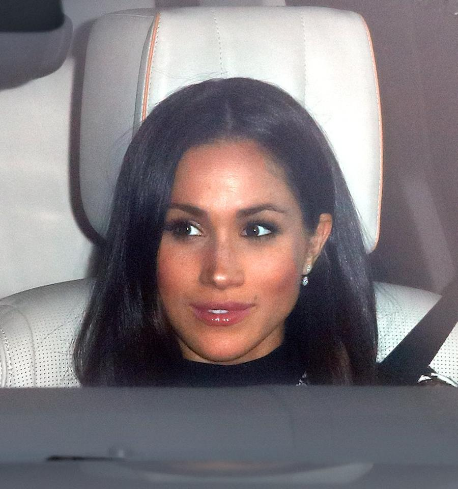 <p>All eyes will be on Meghan when she arrives at St. George's Chapel at Windsor Castle. Not only will it be the first time we see Meghan in her dress, but we might even get a glimpse of her parents if they ride with her. </p>
