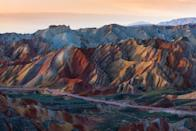 "<p>The ""rainbow mountains"" in Zhangye Danxia National Geological Park, Gansu, China.</p>"