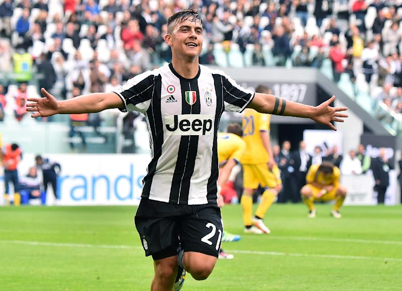 Juventus39 Forward From Argentina Paulo Dybala Celebrates A Goal During The Italian Serie