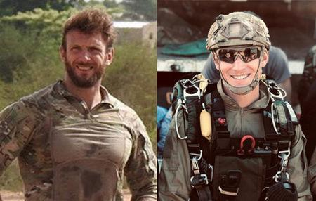 The two French special forces soldiers Cedric de Pierrepont and Alain Bertoncello who were killed in a night-time rescue of four foreign hostages including two French citizens in Burkina Fasso are seen in an undated photo released by French Army, May 10, 2019. Sirpa Marine/Handout via REUTERS