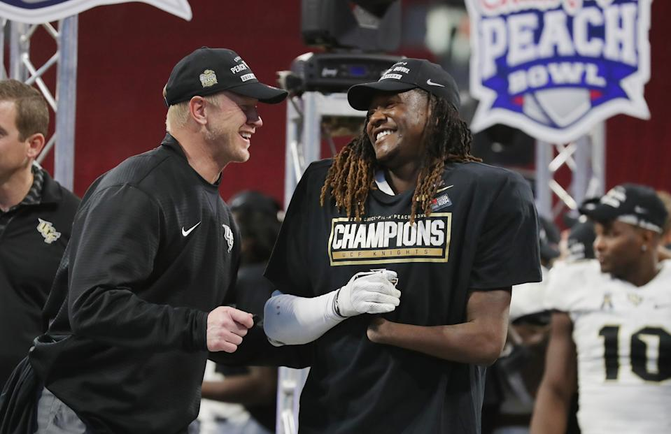 If you get pulled over on UCF's campus, you may be reminded of the football team's undefeated season. (Getty Images)