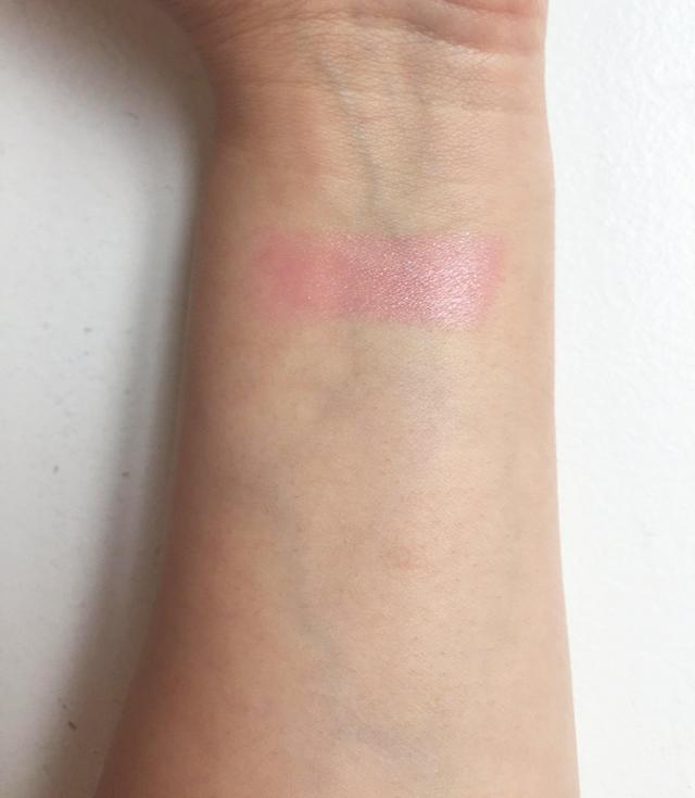 "This is a swatch of the <a href=""https://www.winkylux.com/products/glimmer-balm"" rel=""nofollow noopener"" target=""_blank"" data-ylk=""slk:Winky Lux Glimmer Balm"" class=""link rapid-noclick-resp"">Winky Lux Glimmer Balm</a> ($14) on medium-light skin."