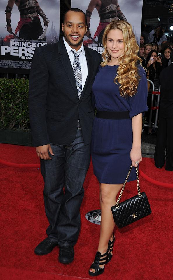 """<a href=""""http://movies.yahoo.com/movie/contributor/1800026496"""">Donald Faison</a> and <a href=""""http://movies.yahoo.com/movie/contributor/1809679113"""">Cacee Cobb</a> at the Los Angeles premiere of <a href=""""http://movies.yahoo.com/movie/1810041991/info"""">Prince of Persia: The Sands of Time</a> - 05/17/2010"""