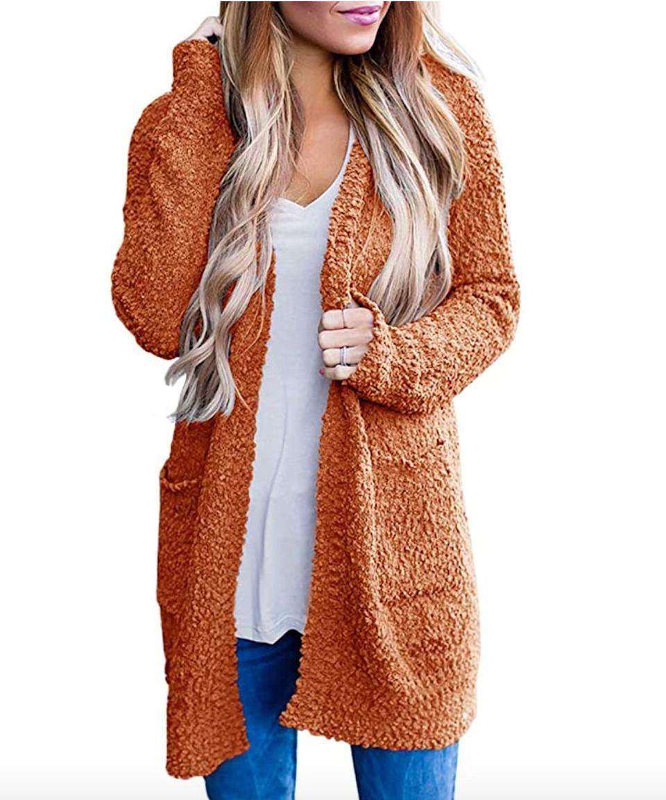 "<a href=""https://amzn.to/3i1jS1A"" target=""_blank"" rel=""noopener noreferrer"">This long cardigan</a> is available in sizes S to XXL in 24 colors. Find it for $39 on <a href=""https://amzn.to/3i1jS1A"" target=""_blank"" rel=""noopener noreferrer"">Amazon</a>."