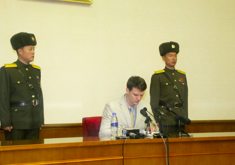 Otto Warmbier was held in North Korea before his death (Picture: Rex)