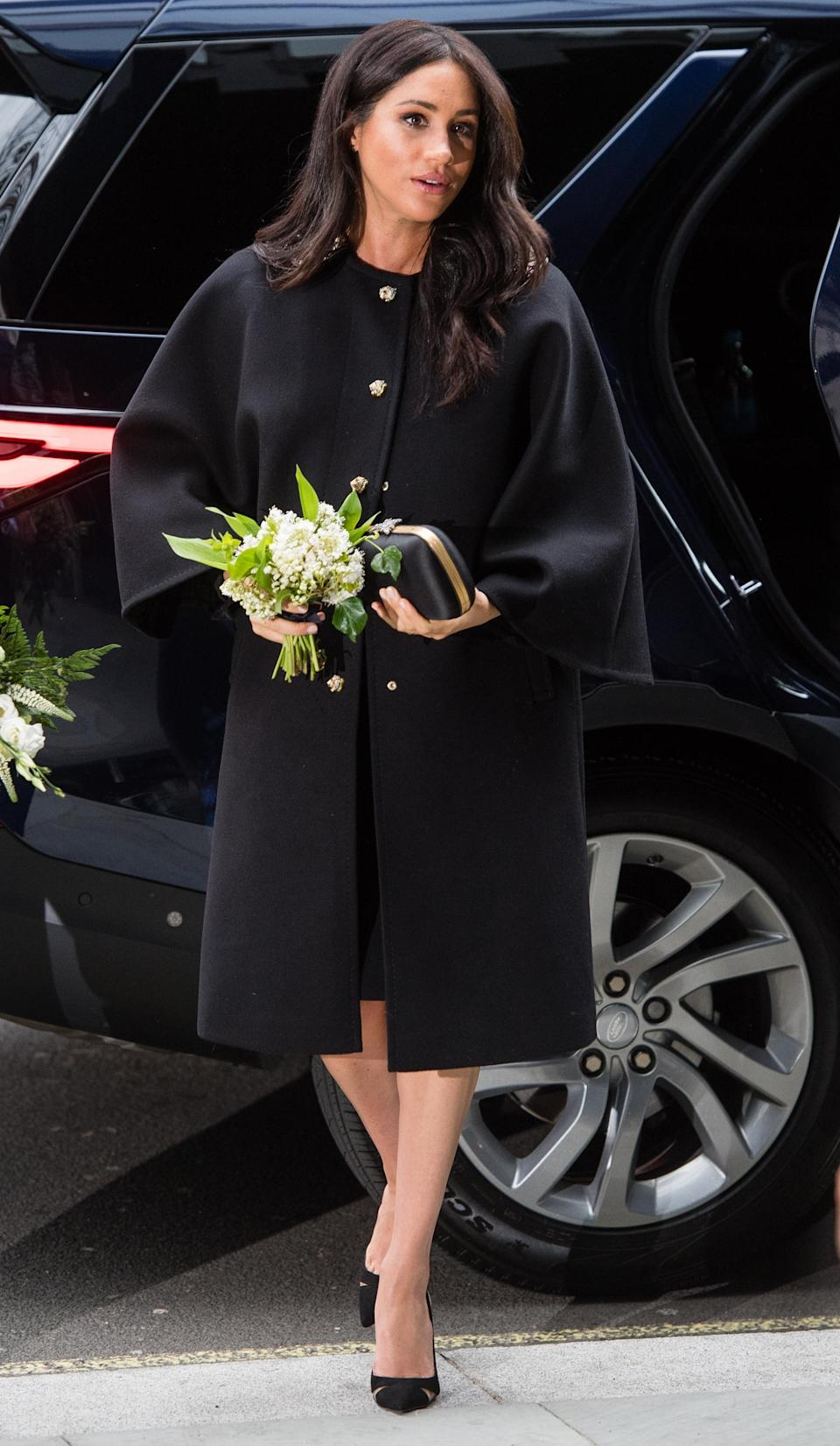 The Duchess of Sussex arrives at New Zealand House in London [Photo: Getty]