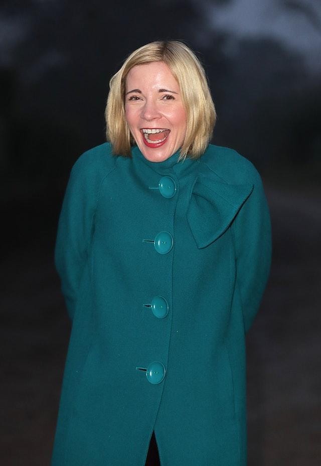 Historian Lucy Worsley. Mary Beard said that 'Lucy trying clothes on is rather different I think'