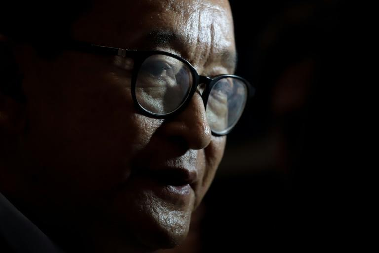 Cambodia's 70-year-old opposition leader in-exile Sam Rainsy had promised a dramatic return on November 9, Cambodia's Independence Day