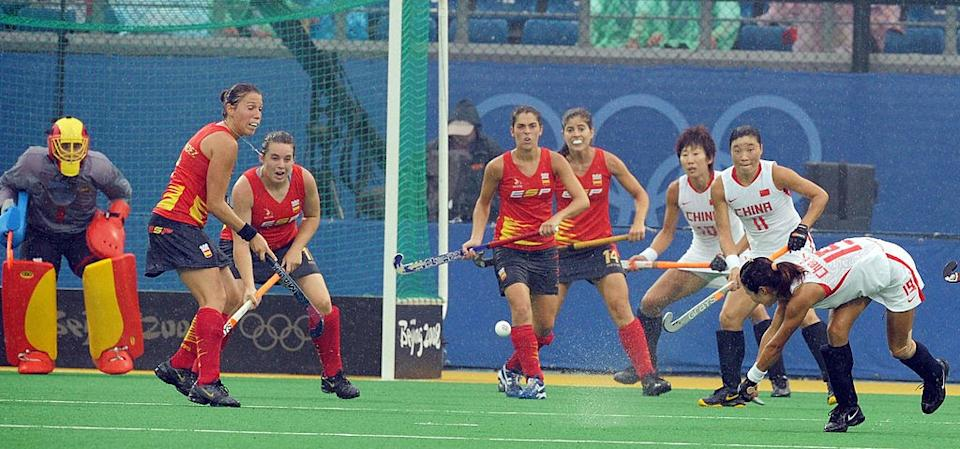 Despite making the Olympics, Spain promptly lost the first game against China. (AAMIR QURESHI/AFP via Getty Images)