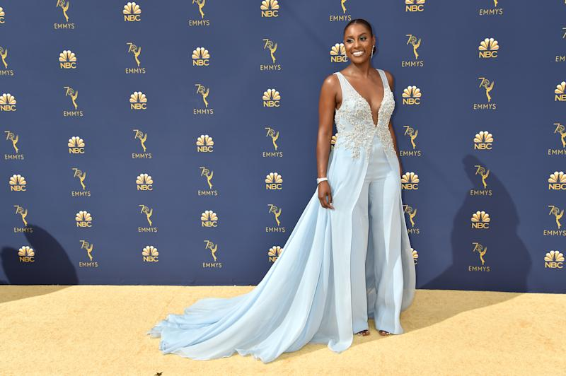Pleated pants AND lace AND a train? A lesser person may not have been able to pull this Vera Wang outfit off, but Issa Rae looks amazing.