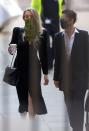 Actor Amber Heard arrives at the High Court in London
