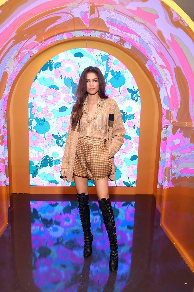 <p>Coleman wore a camel-coloured look by Fendi for the party. </p>