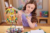 "<strong>K'NEX</strong> amazon.com <strong>$35.29</strong> <a href=""https://www.amazon.com/dp/B01B55C2CC?tag=syn-yahoo-20&ascsubtag=%5Bartid%7C10055.g.29417608%5Bsrc%7Cyahoo-us"" rel=""nofollow noopener"" target=""_blank"" data-ylk=""slk:Shop Now"" class=""link rapid-noclick-resp"">Shop Now</a> Your 9-year-old will <strong>use gears, connectors, rods and an instruction guide to construct a fully functional swing ride</strong>, a boom ride, a Ferris wheel, and any other structure she'd like. <em>Ages 8+</em><br>"