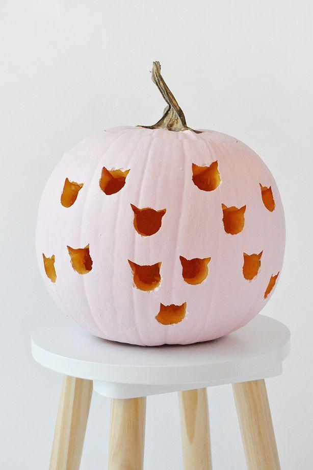 """<p>Show off your love of felines by using drill bits to carve cat shapes into your pumpkin.</p><p><strong>Get the tutorial at <a href=""""https://www.handmadecharlotte.com/diy-cat-drilled-pumpkins/"""" rel=""""nofollow noopener"""" target=""""_blank"""" data-ylk=""""slk:Handmade Charlotte"""" class=""""link rapid-noclick-resp"""">Handmade Charlotte</a>.</strong></p><p><strong><a class=""""link rapid-noclick-resp"""" href=""""https://go.redirectingat.com?id=74968X1596630&url=https%3A%2F%2Fwww.walmart.com%2Fsearch%2F%3Fquery%3Ddrills&sref=https%3A%2F%2Fwww.thepioneerwoman.com%2Fhome-lifestyle%2Fcrafts-diy%2Fg36982763%2Fpumpkin-carving-ideas%2F"""" rel=""""nofollow noopener"""" target=""""_blank"""" data-ylk=""""slk:SHOP DRILLS"""">SHOP DRILLS</a><br></strong></p>"""