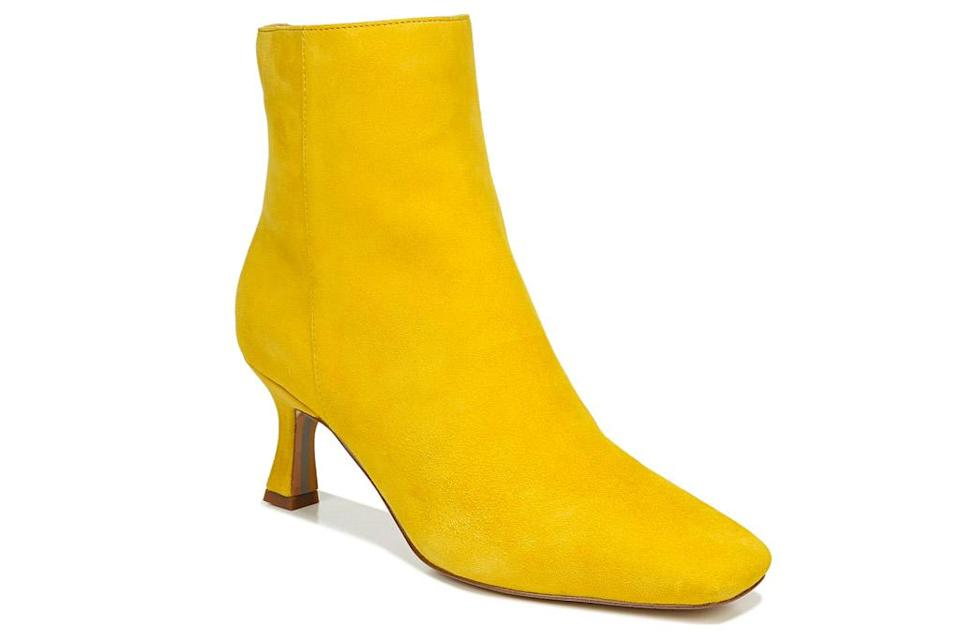 yellow boots, sam edelman