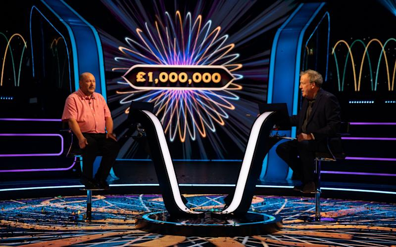 Donald Fear winning a million pounds last night - ITV Picture Desk