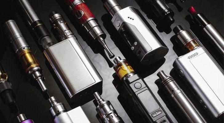 an array of various styles of vaping devices