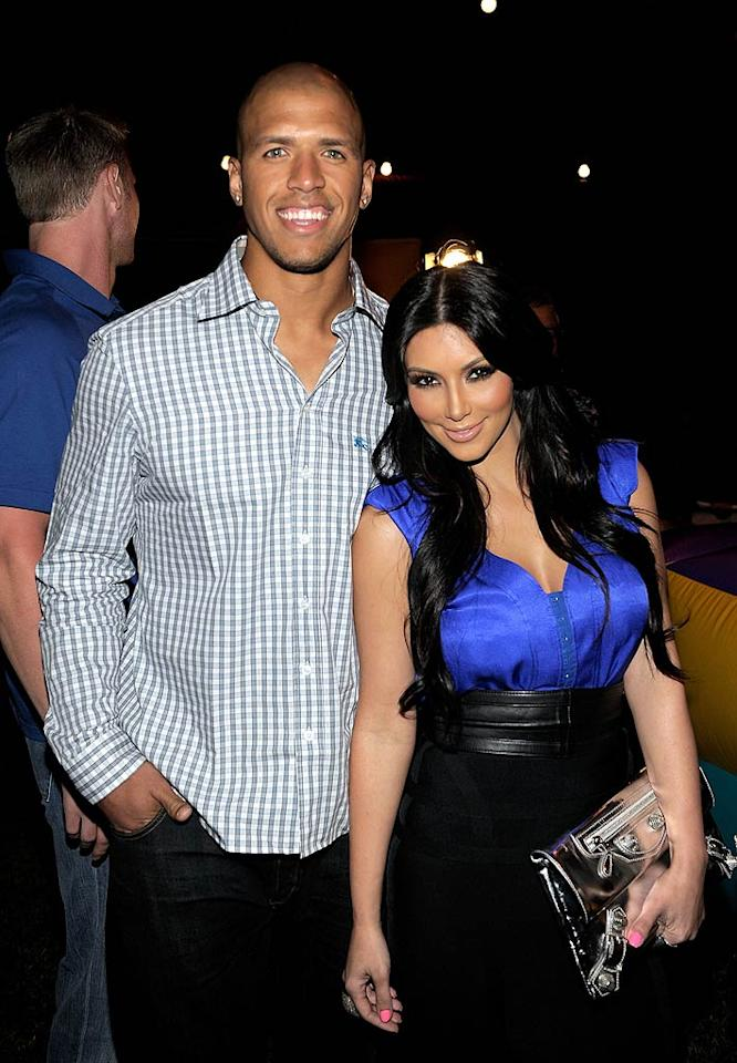 With her sister Khloe married to a Los Angeles Lakers star, Kim decided to step out with a pro athlete too in the summer of 2010 -- Dallas Cowboys wide receiver Miles Austin. She brought Miles to Khloe's 26th birthday bash in New York in June of that year and the two attended Serena Williams' pre-ESPYs party the following month. But the couple's own party soon ended.