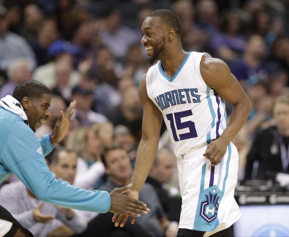 A floor-spacing Marvin Williams and playmaking Kemba Walker would complement LeBron James well. (AP)