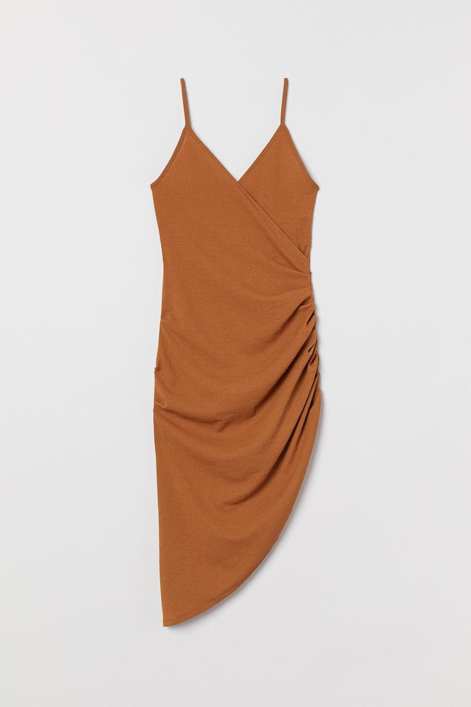 <p>The drawstring details of this <span>H&amp;M Draped Jersey Dress</span> ($10, originally $40) make it unexpected and cool.</p>