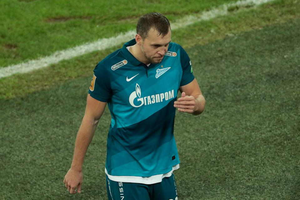SAINT PETERSBURG, RUSSIA - NOVEMBER 08: forward Artyom Dzyuba of FC Zenit during Tinkoff Russian Premier Liga match FC Zenit v FC Krasnodar on November 08, 2020, at Gazprom Arena in Saint Petersburg, Russia. (Photo by Anatoliy Medved/Icon Sportswire via Getty Images)