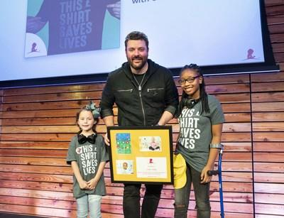 Multi-platinum country music entertainer Chris Young visits with St. Jude patients at Apple Music Curator launch.