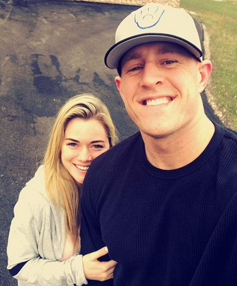 J.J. Watt and Kealia Ohai