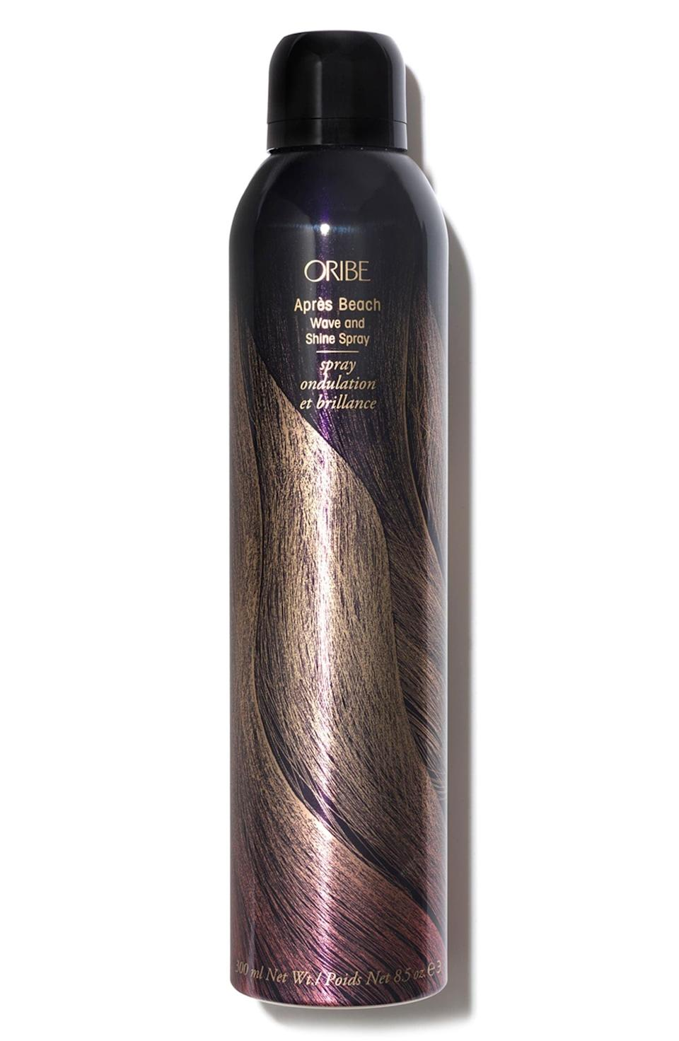 <p>Get gorgeous beachy waves and texture with this <span>Oribe Après Beach Wave and Shine Spray</span> ($23–$44). It will give your hair weightless movement and volume!</p>