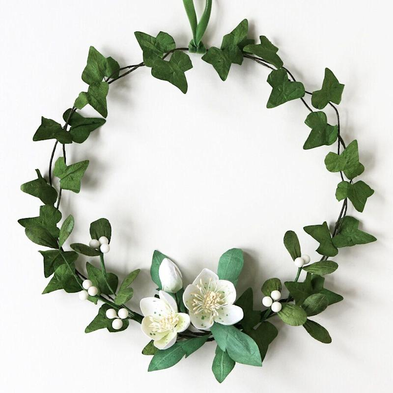 "<a href=""https://fave.co/2rC41Cs"" target=""_blank"" rel=""noopener noreferrer"">Paper Wreath, Paper Tree,</a> &pound;34.95 &nbsp; (Photo: Paper Tree)"