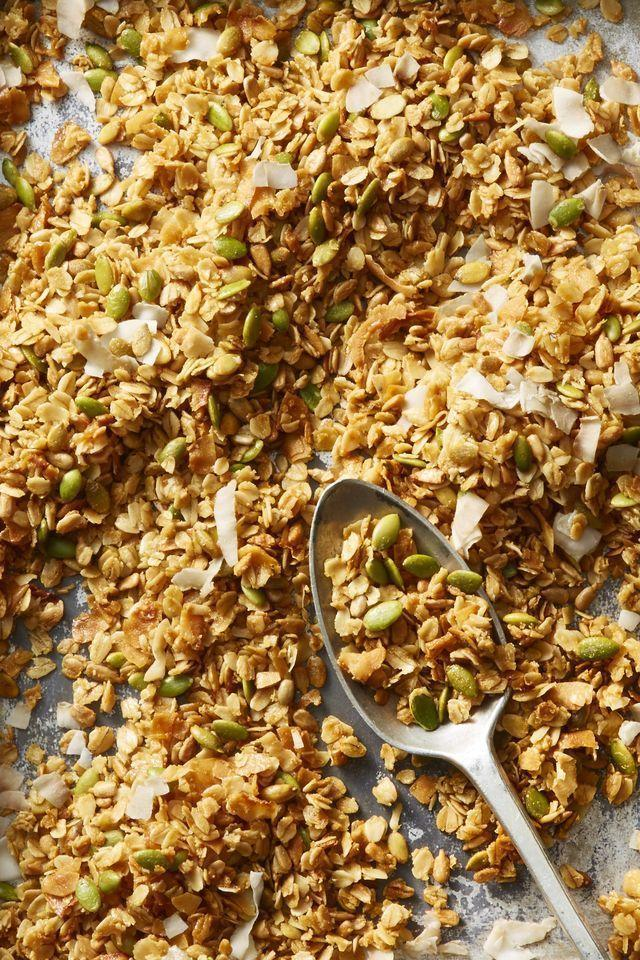 """<p>We'll show you 5 different spice combos so you can make this easy granola exactly how dad likes.</p><p><em><a href=""""https://www.goodhousekeeping.com/food-recipes/a22749958/best-ever-granola-recipe/"""" rel=""""nofollow noopener"""" target=""""_blank"""" data-ylk=""""slk:Get the recipe for Best-Ever Granola »"""" class=""""link rapid-noclick-resp"""">Get the recipe for Best-Ever Granola »</a></em></p>"""