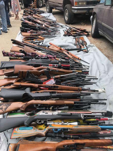 PHOTO: The Los Angeles Police Department removed over a thousand guns from the home of a man in the city's Holmby Hills neighborhood on Wednesday, May 8, 2019. (Los Angeles Police Department)