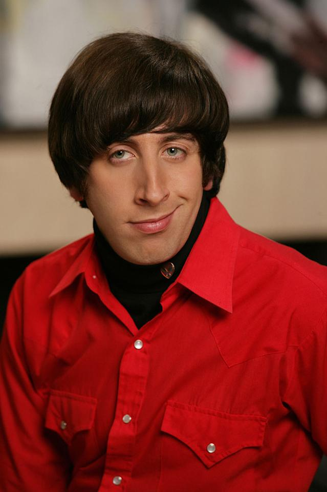 Simon Helberg stars as Wolowitz in The Big Bang Theory.