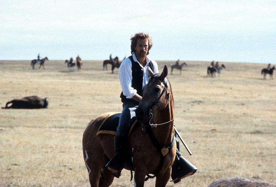 """<p><em>Dances With Wolves </em>won the Oscar for Best Picture and Best Directing. <a href=""""https://www.netflix.com/search?q=dances&jbv=60028940"""" rel=""""nofollow noopener"""" target=""""_blank"""" data-ylk=""""slk:It's on Netflix now"""" class=""""link rapid-noclick-resp"""">It's on Netflix now</a>, so if you want your fix of watching Kevin as Lieutenant Dunbar you better get to it! </p>"""