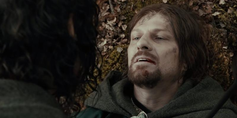 Boromir Death Sean Bean Lord of the Rings The Fellowship of the Ring New Line Cinema