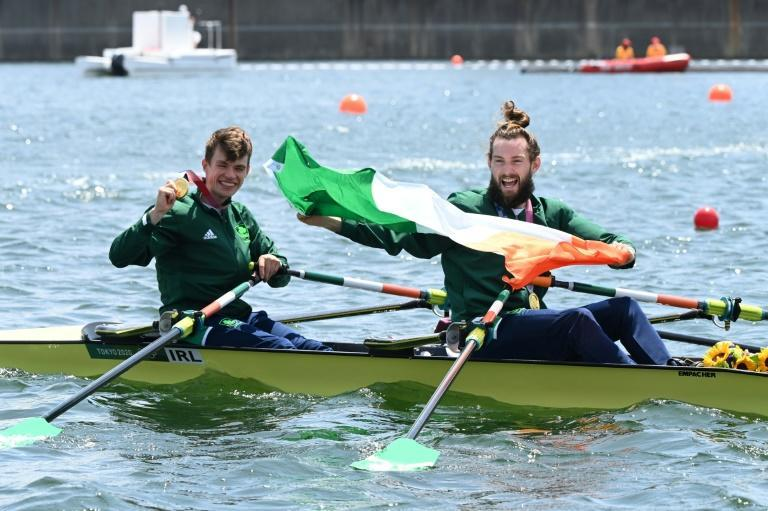 Ireland's Paul O'Donovan was so drained after winning Olympic rowing gold that he could barely sing the national anthem