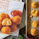 """<p>Die-hard Trader Joe's fan? Then you might know that the grocery chain has carried Mac and Cheese Bites before. However, that vendor could no longer provide, so TJ's has used this time to find a new one <em>and </em>improve the recipe.</p><p>""""Imagine the cheesiest bite of <a href=""""https://www.instagram.com/p/BzjsimsJkLt/"""" rel=""""nofollow noopener"""" target=""""_blank"""" data-ylk=""""slk:macaroni and cheese encased in a crispy outer coating"""" class=""""link rapid-noclick-resp"""">macaroni and cheese encased in a crispy outer coating</a>,"""" the description says. """"We have created the ultimate appetizer inspired by our popular Diner Mac & Cheese."""" </p><p>The <a href=""""https://www.traderjoes.com/digin/post/mac-and-cheese-bites"""" rel=""""nofollow noopener"""" target=""""_blank"""" data-ylk=""""slk:new Mac and Cheese Bites"""" class=""""link rapid-noclick-resp"""">new Mac and Cheese Bites</a> come in a box of 10 bites for $3.99 and are ready after just 20 minutes in the oven.</p>"""