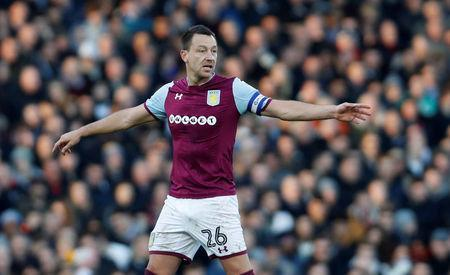 Soccer Football - Championship - Fulham vs Aston Villa - Craven Cottage, London, Britain - February 17, 2018 Aston Villa's John Terry gestures Action Images/Paul Childs